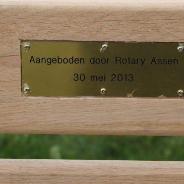 Bankje van de Rotary club Assen
