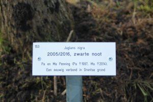 Herdenkingsboom  fam. Penning 4