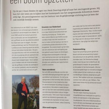 Artikel in het golfmagazine van de Businessclub DGCC